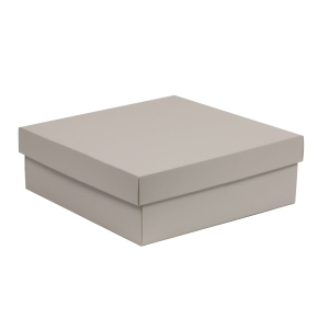 Darčeková krabica s vekom 300x300x100/40 mm, sivá
