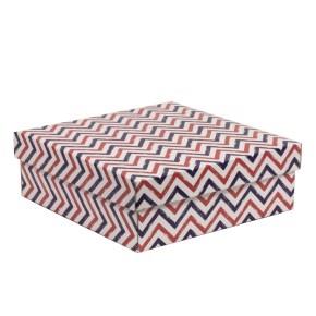Darčeková krabica s vekom 300x300x100/40 mm, VZOR - CIK CAK fialová/koralová
