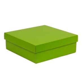 Darčeková krabica s vekom 300x300x100/40 mm, zelená