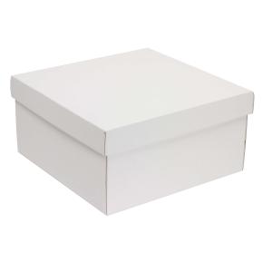 Darčeková krabica s vekom 300x300x150 mm, biela