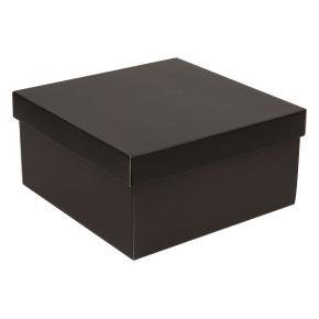 Darčeková krabica s vekom 300x300x150 mm, čierna
