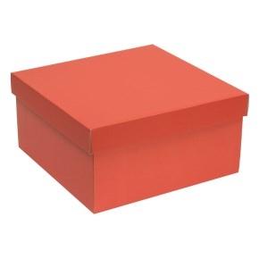 Darčeková krabica s vekom 300x300x150 mm, koralová