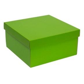 Darčeková krabica s vekom 300x300x150 mm, zelená