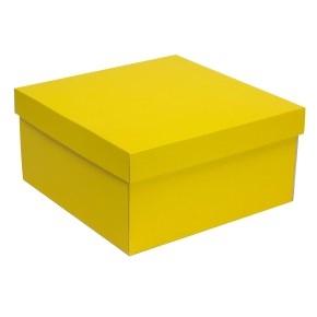 Darčeková krabica s vekom 300x300x150 mm, žltá