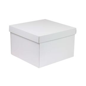 Darčeková krabica s vekom 300x300x200 mm, biela