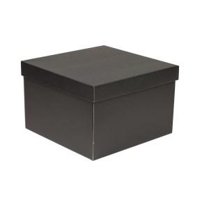 Darčeková krabica s vekom 300x300x200 mm, čierna