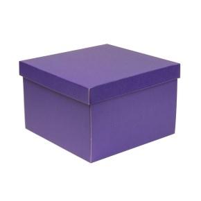 Darčeková krabica s vekom 300x300x200 mm, fialová