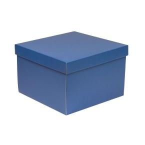 Darčeková krabica s vekom 300x300x200 mm, modrá