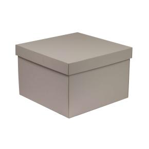 Darčeková krabica s vekom 300x300x200 mm, sivá