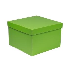 Darčeková krabica s vekom 300x300x200 mm, zelená