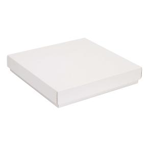 Darčeková krabica s vekom 300x300x50 mm, biela