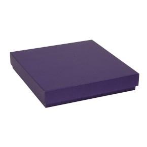 Darčeková krabica s vekom 300x300x50 mm, fialová