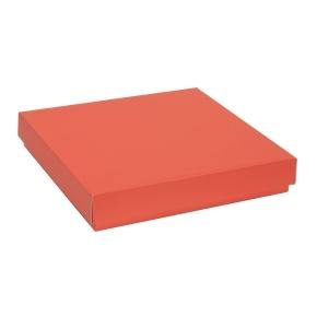 Darčeková krabica s vekom 300x300x50 mm, koralová