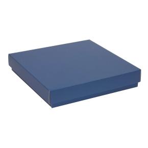 Darčeková krabica s vekom 300x300x50 mm, modrá
