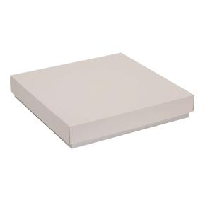 Darčeková krabica s vekom 300x300x50 mm, sivá
