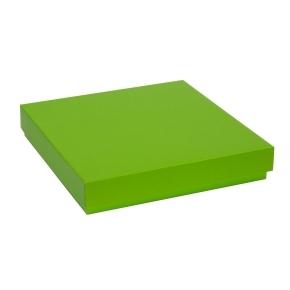 Darčeková krabica s vekom 300x300x50 mm, zelená