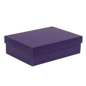 Darčeková krabica s vekom 350x250x100/40 mm, fialová
