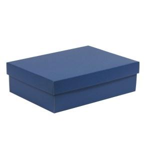 Darčeková krabica s vekom 350x250x100/40 mm, modrá