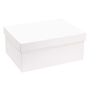 Darčeková krabica s vekom 350x250x150 mm, biela