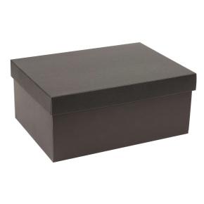 Darčeková krabica s vekom 350x250x150 mm, čierna