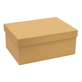Darčeková krabica s vekom 350x250x150 mm, hnedá - kraft