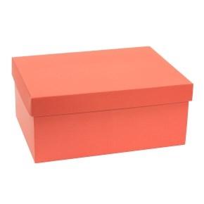 Darčeková krabica s vekom 350x250x150 mm, koralová