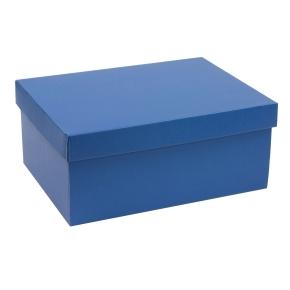 Darčeková krabica s vekom 350x250x150 mm, modrá