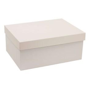 Darčeková krabica s vekom 350x250x150 mm, sivá