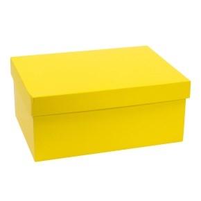 Darčeková krabica s vekom 350x250x150 mm, žltá