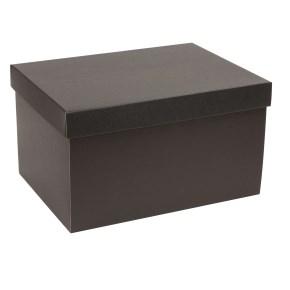 Darčeková krabica s vekom 350x250x200 mm, čierna