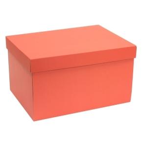 Darčeková krabica s vekom 350x250x200 mm, koralová