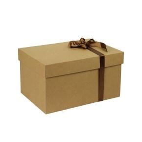 Darčeková krabica s vekom 350x250x200 mm, kraftová