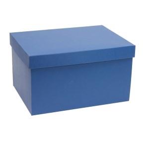 Darčeková krabica s vekom 350x250x200 mm, modrá