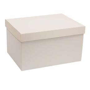 Darčeková krabica s vekom 350x250x200 mm, sivá