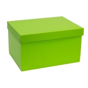 Darčeková krabica s vekom 350x250x200 mm, zelená