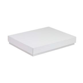 Darčeková krabica s vekom 350x250x50 mm, biela