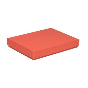 Darčeková krabica s vekom 350x250x50 mm, koralová