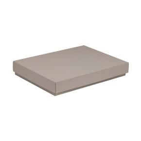 Darčeková krabica s vekom 350x250x50 mm, sivá