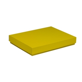 Darčeková krabica s vekom 350x250x50 mm, žltá