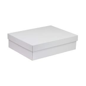 Darčeková krabica s vekom 400x300x100 mm, biela