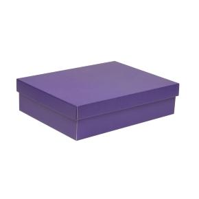 Darčeková krabica s vekom 400x300x100 mm, fialová