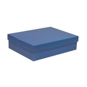 Darčeková krabica s vekom 400x300x100 mm, modrá