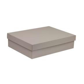 Darčeková krabica s vekom 400x300x100 mm, sivá