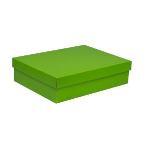 Darčeková krabica s vekom 400x300x100 mm, zelená