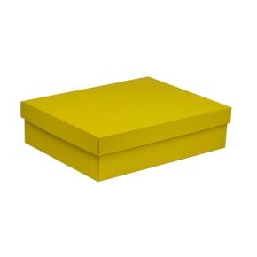 Darčeková krabica s vekom 400x300x100 mm, žltá