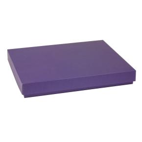 Darčeková krabica s vekom 400x300x50 mm, fialová