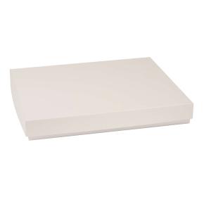 Darčeková krabica s vekom 400x300x50 mm, sivá