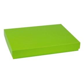 Darčeková krabica s vekom 400x300x50 mm, zelená