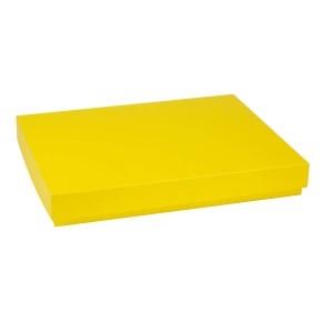 Darčeková krabica s vekom 400x300x50 mm, žltá