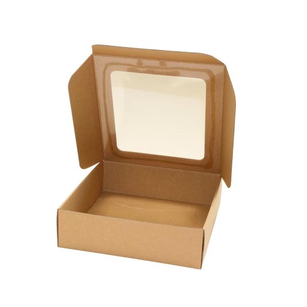 b7a7b67a1 Darčeková krabička 200x195x60 mm, HH výsek s priehľadným okienkom ...